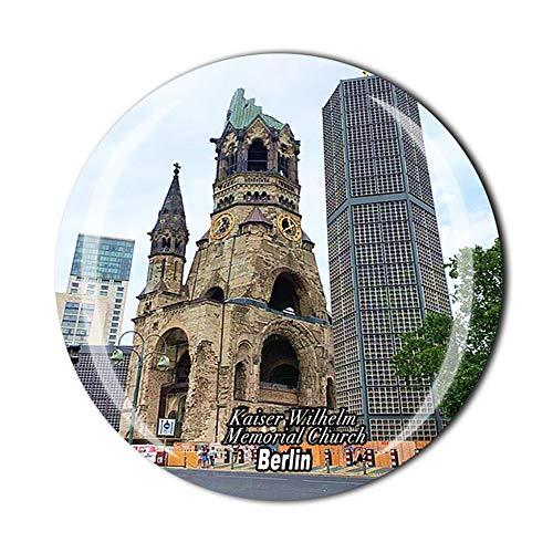 Kaiser Wilhelm Memorial Church Berlin Germany - Imán para nevera con cristal magnético