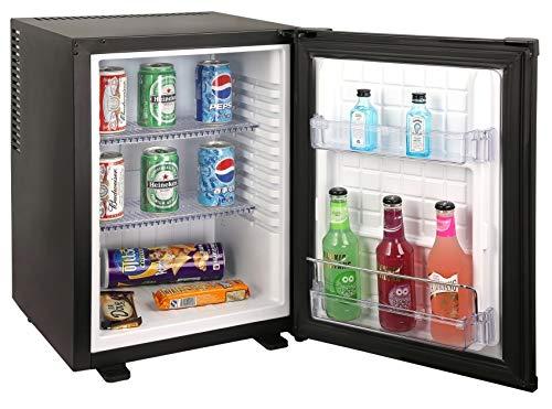 Mini nevera para Hotel, 40 litros, Vama Minibar Top A+, color negro
