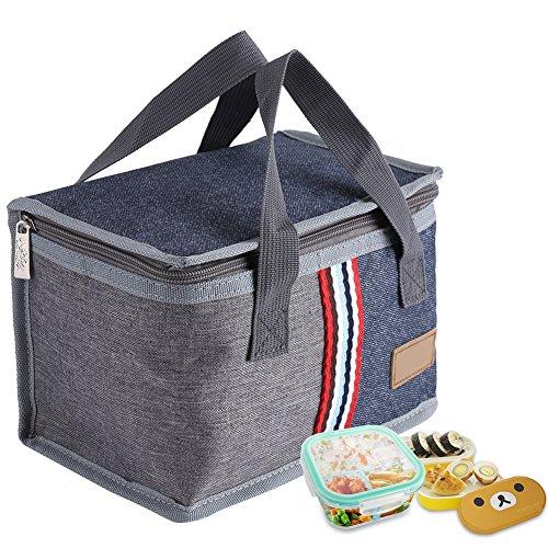 Bolsa de almuerzo, Bolsa de Almuerzo Impermeable para niños Almacenamiento portátil Aislado Bento Bag Cooler/Thermal Picnic Bolsas TéRmicas para el Trabajo Picnic Escolar